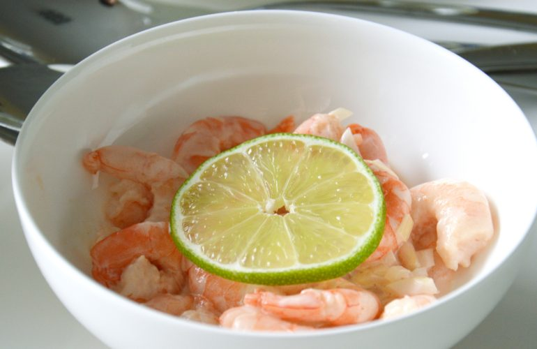 Colombian style prawns