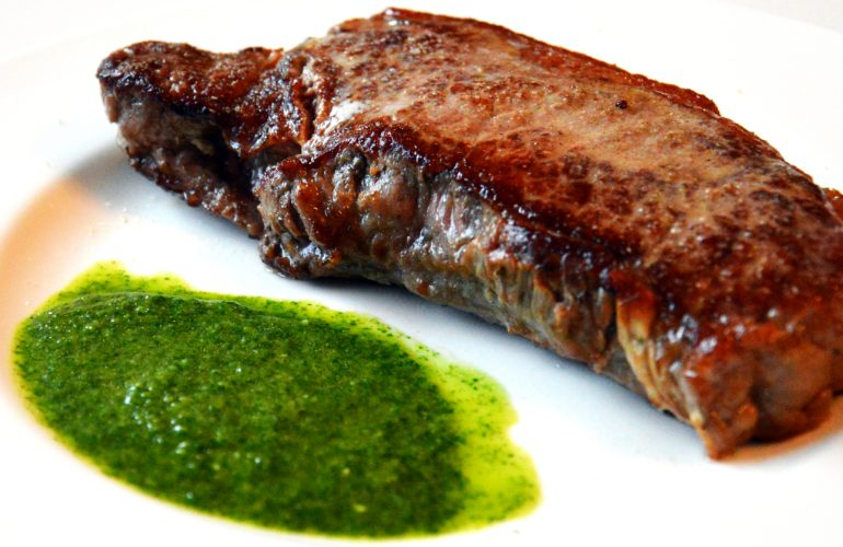 Colombian steak with chimichurri