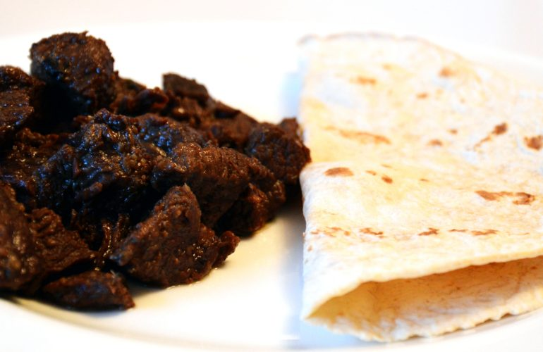 Beef shawarma made at home