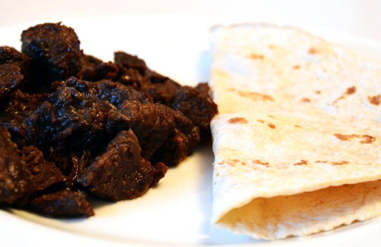 Beef shawarma made at home