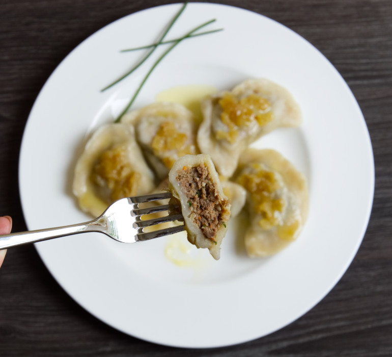 Traditional Polish Dumplings with Meat