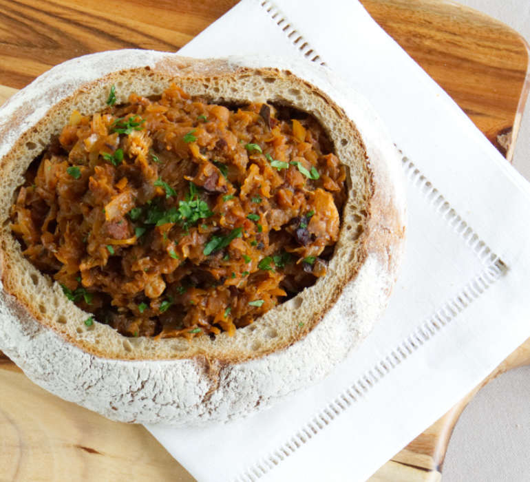 Traditional Polish Stew Cabbage Recipe - Bigos