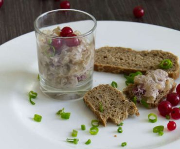 Hand Cheese with Horseradish and Cranberries