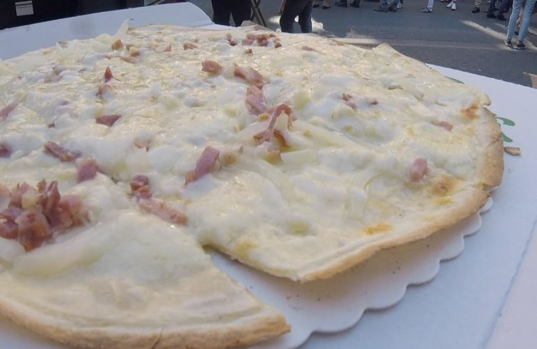 Flammkuchen at Kaisermarkt, Frankfurt am Main