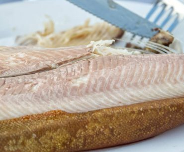 Warm, smoked trout