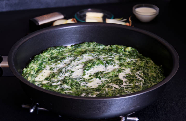 Traditional German Creamed Spinach