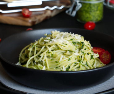 german wild garlic pesto pasta main