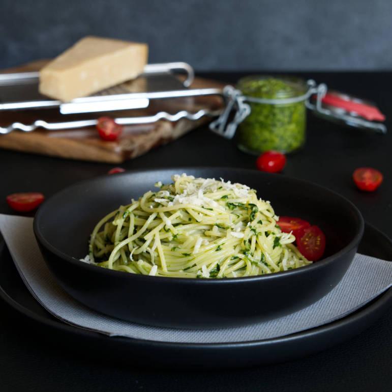 german wild garlic pesto pasta qua