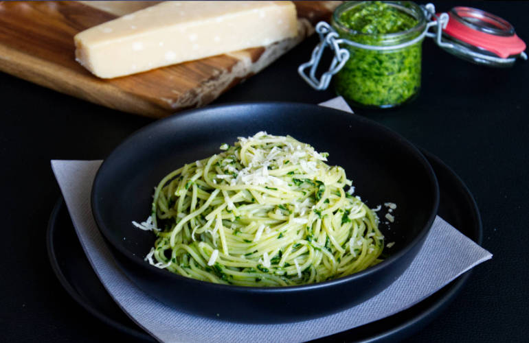 german wild garlic pesto pasta sm