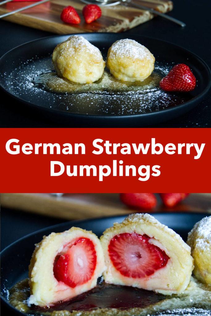 German Strawberry Dumplings