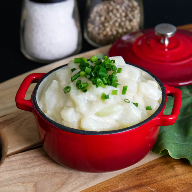 Traditional German Turnip with Béchamel Sauce