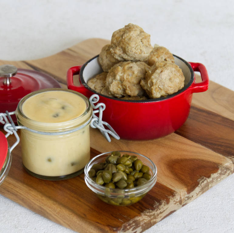 German Meatballs with Capers